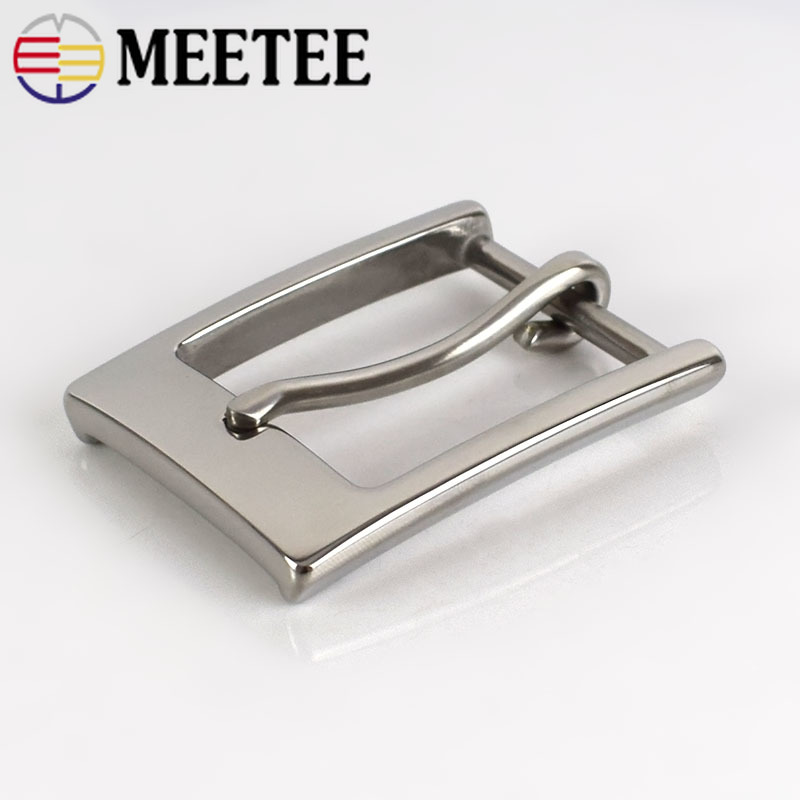 Deepeel 1pc/3pcs 35mm Stainless Steel Belt Buckles Men Pin Buckle Belt Head DIY Leather Craft Hardware Decorative AccessoryZK842