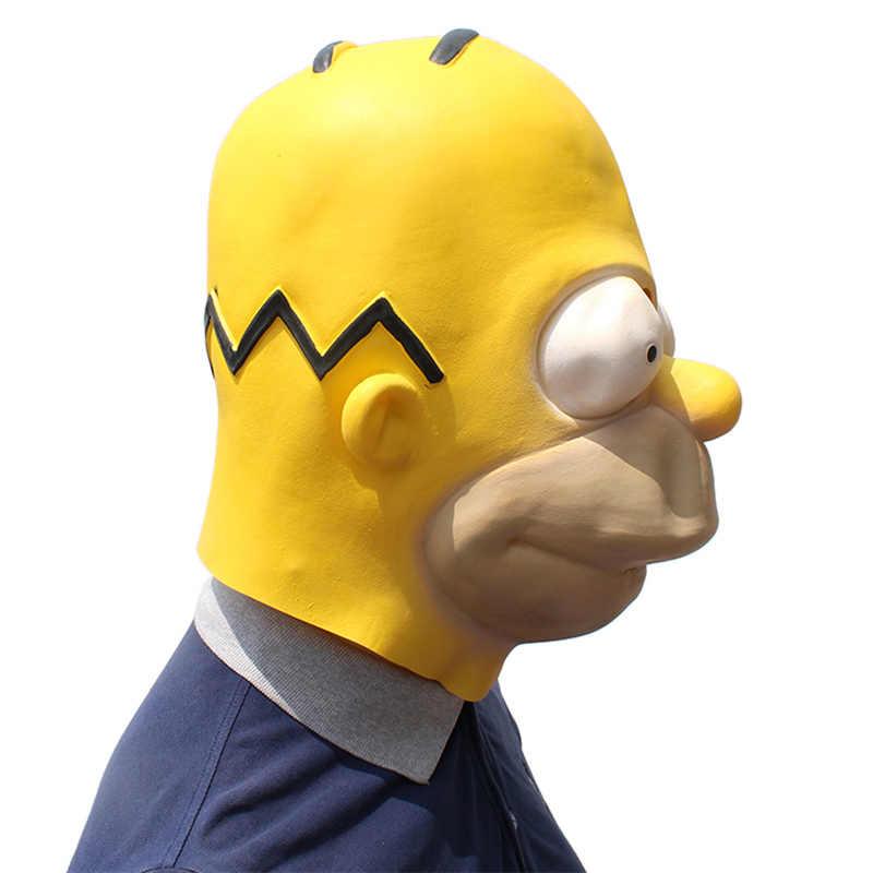 Grappig Cosplay Simpson Maskers Volwassen Latex Masker Cartoons Tekens Carnaval Props Party Fancy Bal Kostuum