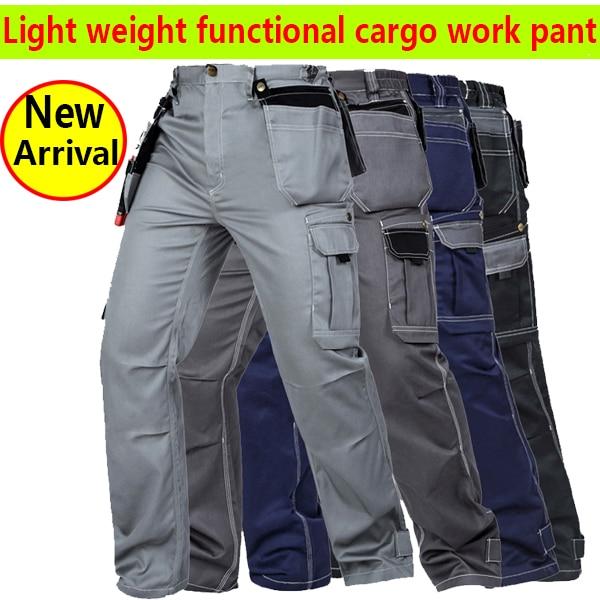 d9a5efc6d9fb Summer light weight Mens multi pockets work trousers grey work pant black  work wear mechanic pant cargo work pant free shipping