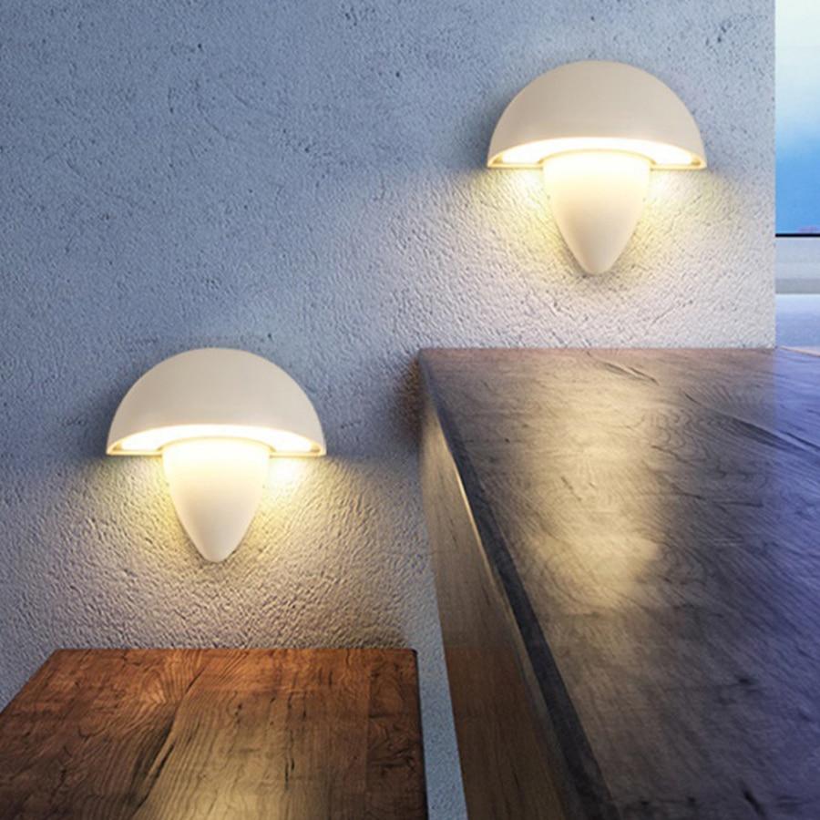 Thrisdar Nordic Mushroom Waterproof LED Wall Light Outdoor Garden Villa Aisle Stair Porch Wall light Bathroom Bedside Wall Lamp Outdoor Wall Lamps     -