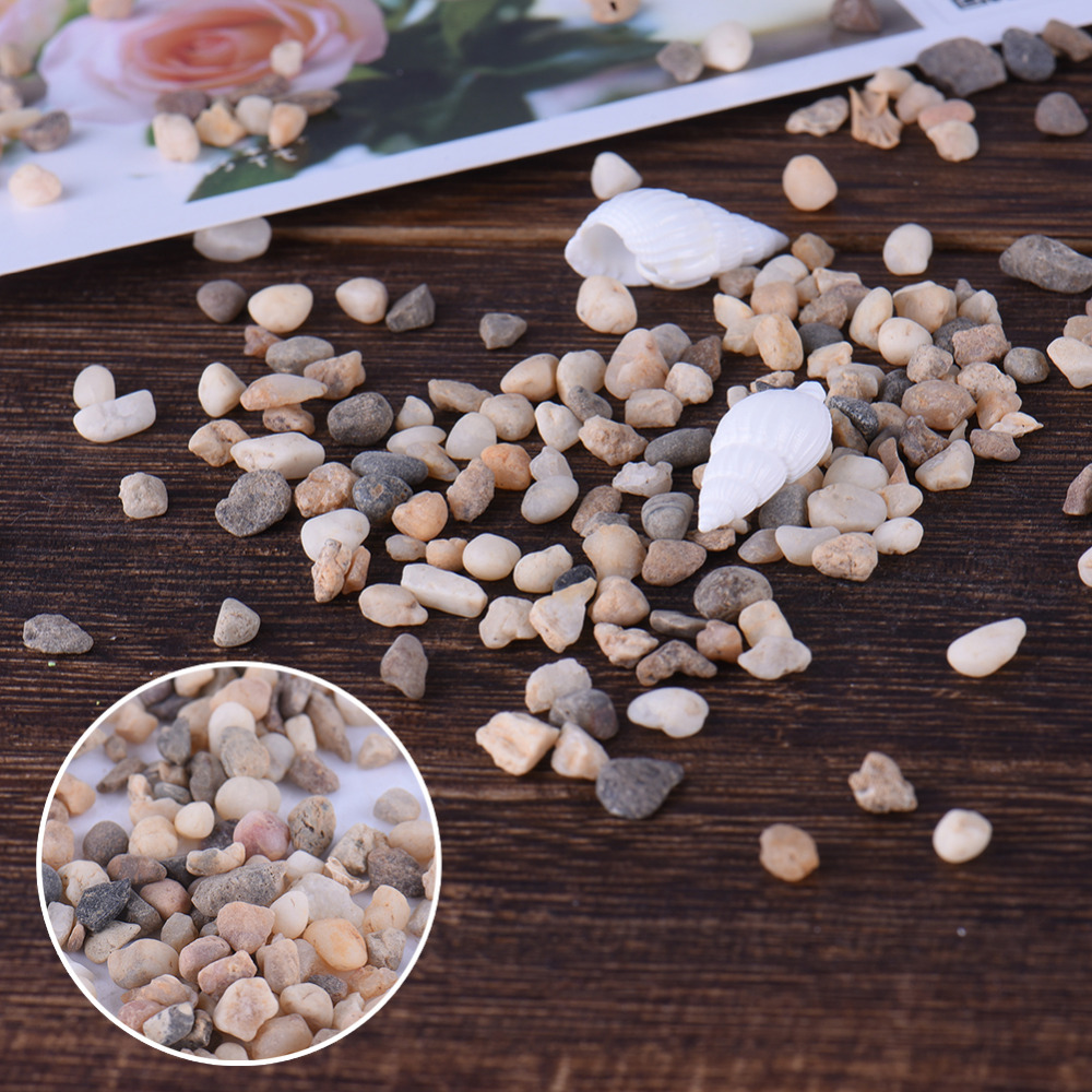 100% Natural Small River Sand Stones Rocks Size 3-4mm Fairy Garden DIY Omaments For Micr ...