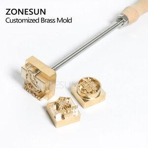 Image 4 - Zonesun 20 ミリメートルカスタマイズされたスタンプブランディングロゴのエンボス加工ホットstaming革レザーウッド個性燃焼ためスタンピング金型