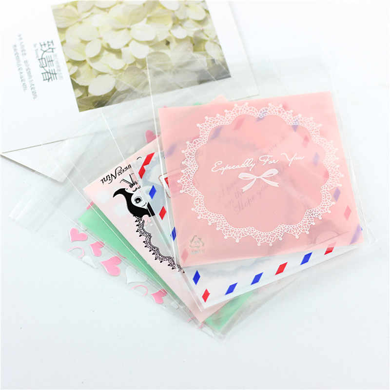 Jewelry Bags Self-Adhesive Small earring Pouches Necklace fashion OPP Plastic Bracelet jewellery Bag bijoux packaging oorbellen