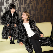 Free shipping winter fur fashion high quality Advanced custom noble fur long sleeved coat adult warm