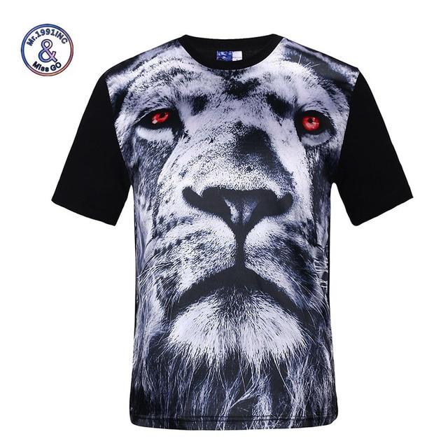 02ecd35f5f1d Mr.1991INC Chain fashion mannen/vrouwen 3d t-shirt grappige print Rode Eye
