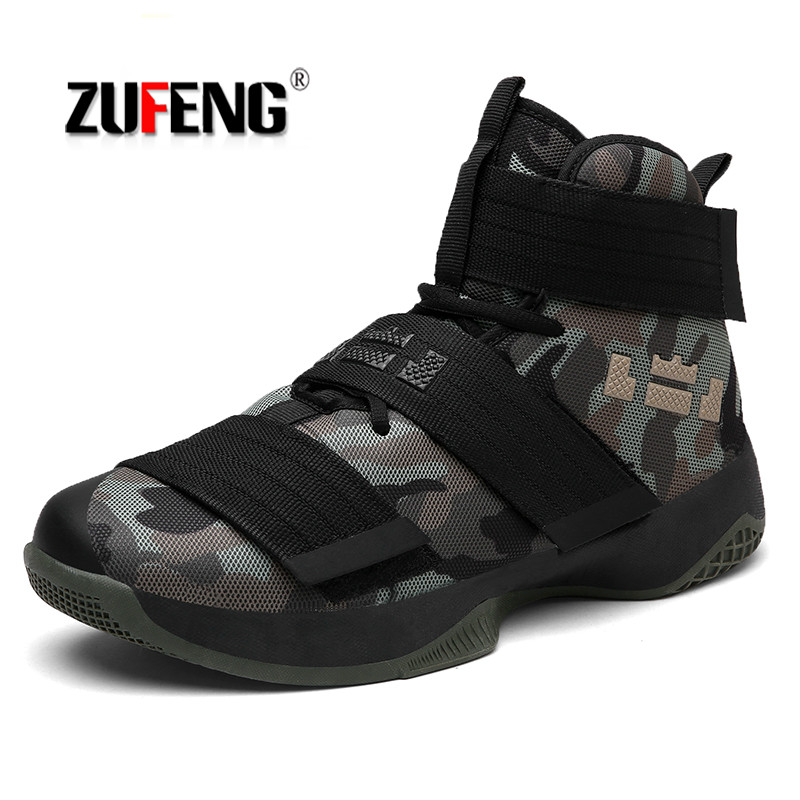 ZUFENG Professional Basketball Shoes Lebron James High Top Gym Training Boots Ankle Boots Outdoor Men Sneakers Athletic Sport peak men athletic basketball shoes tech sports boots zapatillas hombres basketball breathable professional training sneakers