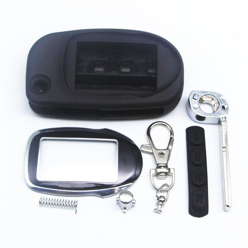 M7 Fold Keychain Case For Scher-khan Magicar 7 8 9 10 11 12 Scher Khan M8 M9 M10 M11 M12 Car Alarm System LCD Remote Control