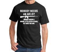 誰もニーズにar15 tシャツ男性面白い銃軍半袖カジュアルtシャツ米国プラスサイズs-3xl