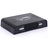 New HDMI to SCART Composite Video Converter Adapter 1080P Video Audio Upscale Converter AV Signal Adapter HD Receiver TV DVD