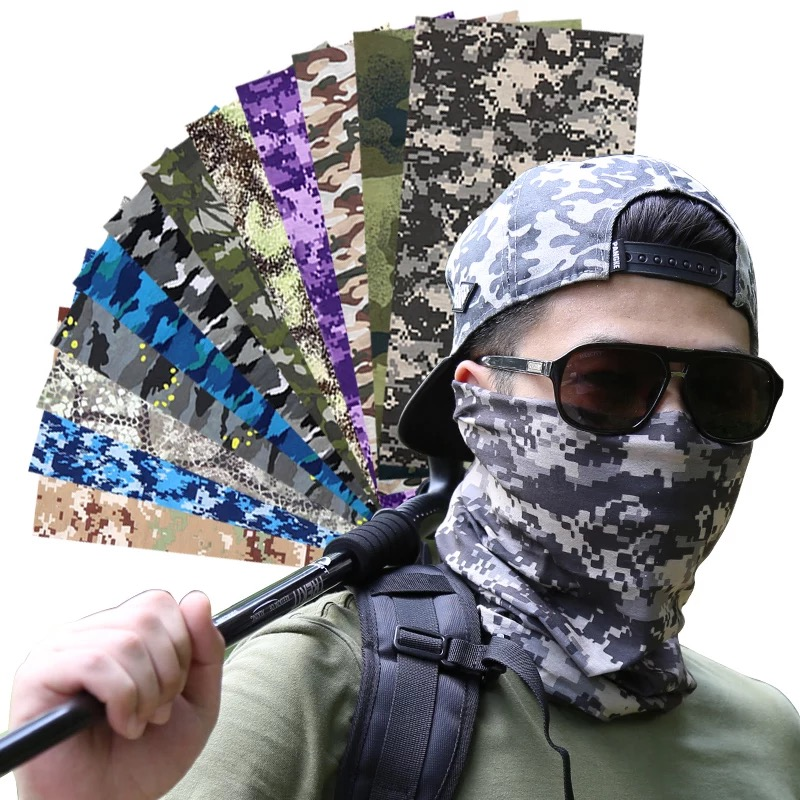 Novelty Classical Military Camo Multifunctional Headwears Forest Hunting Woodland Camouflage Magic Skull Motorcycle Scarf коврик woodland forest 10 camo
