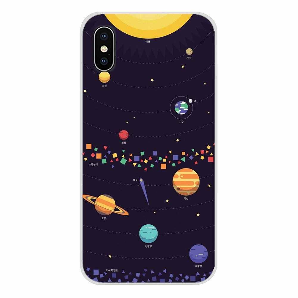 Для Xiaomi Mi6 A1 5X 6X Redmi Note 5 5A 4X 4A 4 3 Plus Pro pocophone F1 мягкие прозрачные чехлы Мультяшные глянцевые Луна Звезды Космос