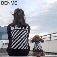 BENMEI Mascotas Perros y Propietario de las Sudaderas Con Capucha Sudadera Para los Pequeños Perros Grandes Patrón BLANCO Trajes Para Cachorros Golden Retriever