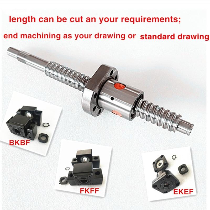 1pc Lead ball screw 20mm anti backlash RM2005-500mm-C7+ball nut+end machine CNC