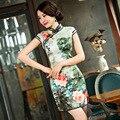 TIC-TEC chinese cheongsam qipao peony print slim vintage fashion women tradicional oriental dresses party weeding cloth P2850