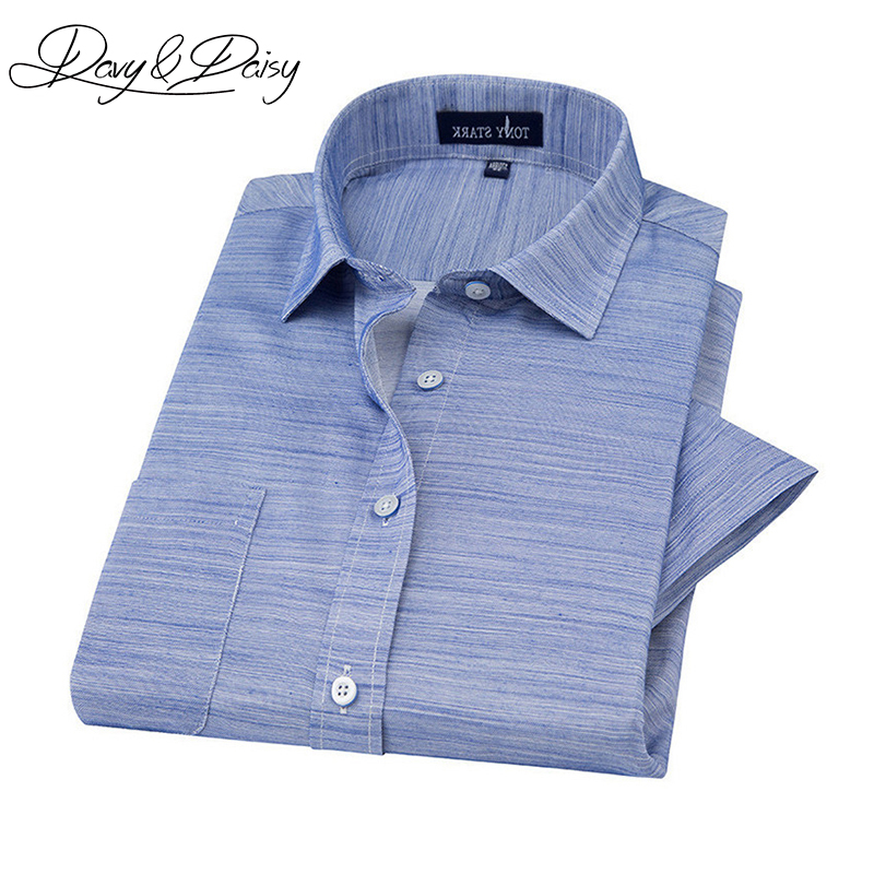 DAVYDAISY New Arrival Summer Men's Linen Shirts Comfort Solid Plaid Short Sleeve Shirt Men Casual Brand Clothing 9 Colors DS-197