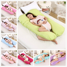 Multifunctional Maternity Comfortable Pregnant Pillowcase Removable U-Shaped Total Body Pillow Cover Case