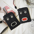 Ladies Hand Bags Funny Bag Hip-Hop Sequined Rivet Characters Face Wristlet Bags Woman Cluthes Bags for Mobile Phone
