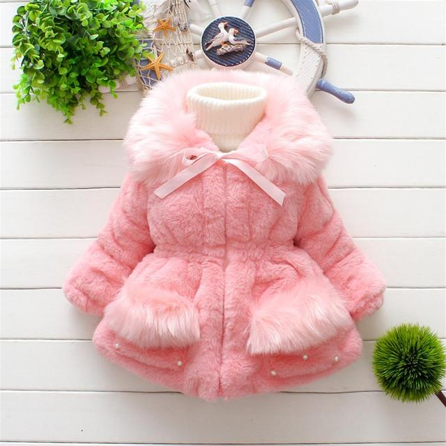 75d2245bd MXTOPPY Thick Baby Coat 2018 Winter Clothes For Infant Girls Faux ...