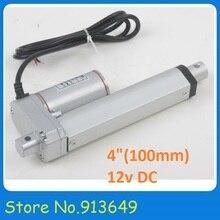 100 мм/4 дюймов ход мини линейный трубчатый Motion, 900N/90 кг/198LBS нагрузка электрический линейный привод 12 В Лидер продаж