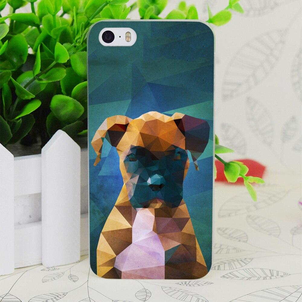 C1836 боксер портрет собаки прозрачный жесткий тонкий корпус кожного покрова для Apple IPhone 4 4S 4 г 5 5 г 5S SE 5C 6 6 S плюс