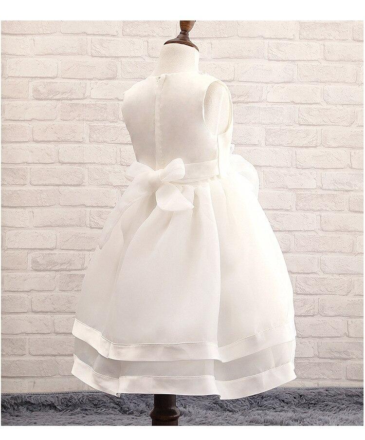 2018 Summer Trend Baby Girl wear white Princess Dress Kids Wedding Dress  ball gown Girls Dresses For Children vestido de festa-in Dresses from  Mother   Kids ... 89240086f8cb