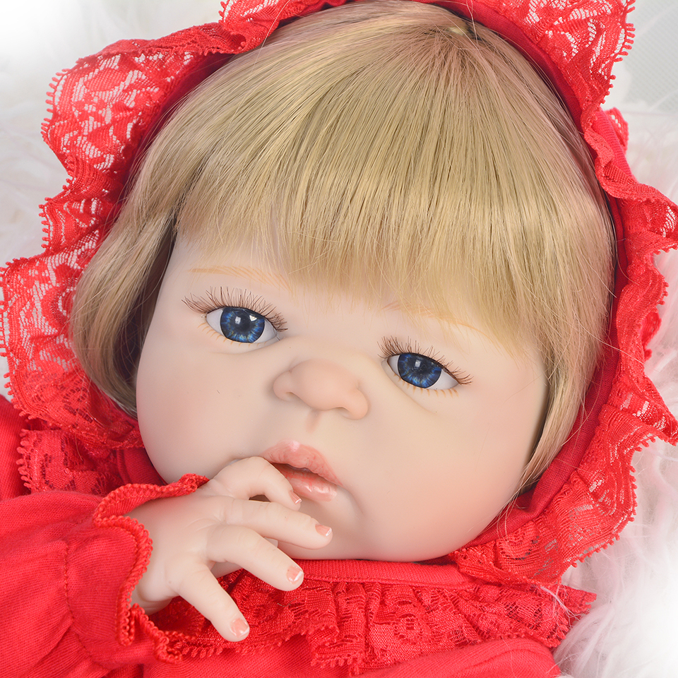23 57cm bebes reborn doll blond hair girl reborn babies silicone dolls toys wiht cute red hat gift for children xmas gift bebek23 57cm bebes reborn doll blond hair girl reborn babies silicone dolls toys wiht cute red hat gift for children xmas gift bebek