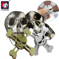 New Finger Gyroscope Original Skull Torqbar Brass Fidget Hand Spinner Tri Spinner For Adult To Reduce