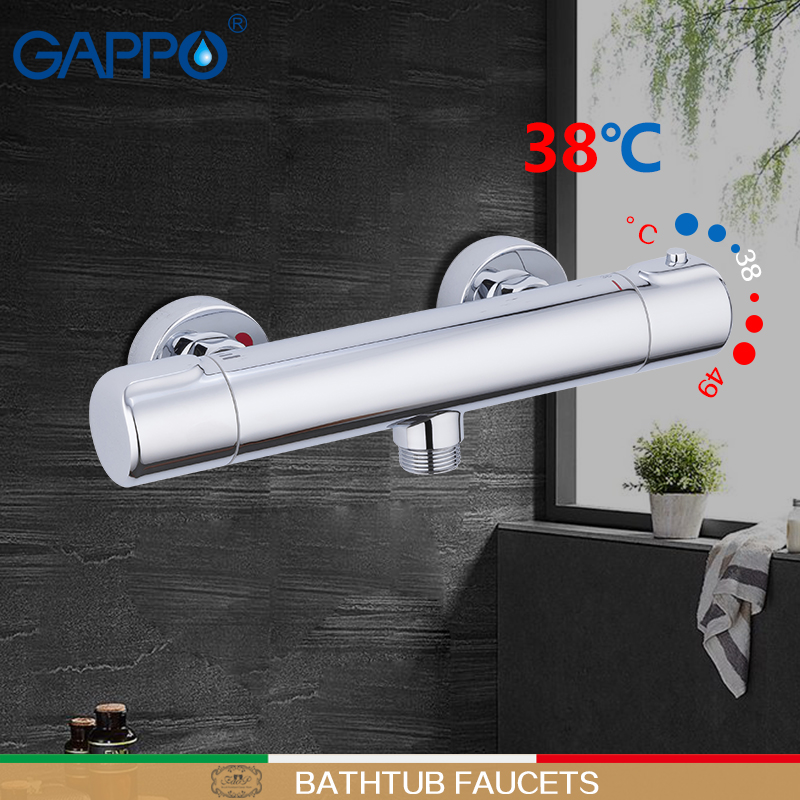 GAPPO Bathtub Faucets Thermostatic Shower Mixer Bath Shower For Bathroom Brass Chrome Faucet Thermostat Tap Mixers