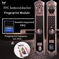 Video WIFI Fingerprint lock,Best Remote Camera Door Lock Smart Passcode Fingerprint Door Lock