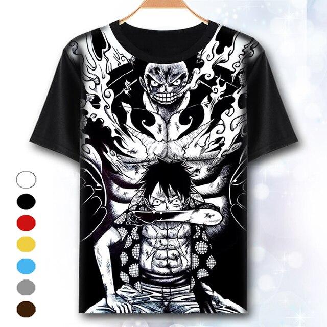 XHTWCY  One Piece Maglietta Rufy Cappello di Paglia Anime Giapponese T  Shirts O- 25fe252c61ac