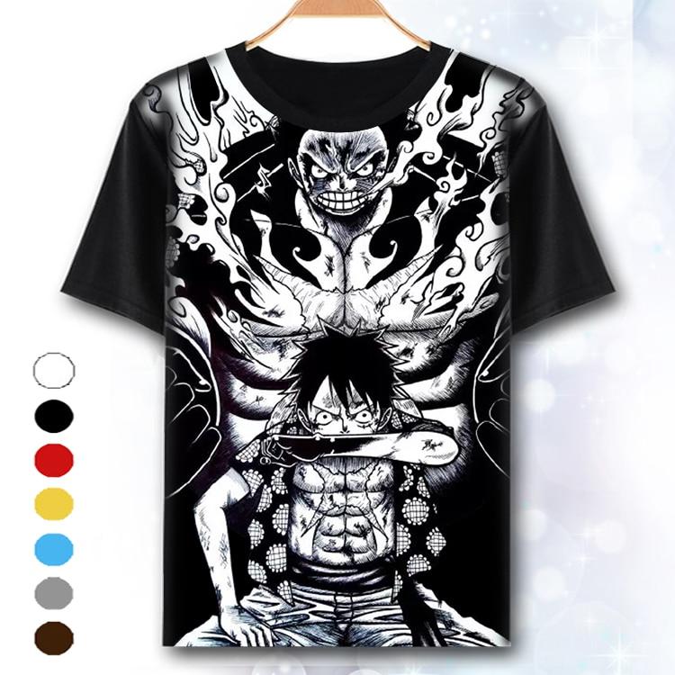 Xhtwcy One Piece T Shirt Luffy Straw Hat Japanese Anime