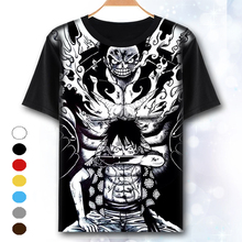 [XHTWCY] One Piece T Shirt Luffy Straw Hat Japanese Anime T Shirts O-neck Black T-shirt For Men Anime Design One Piece T-shirt
