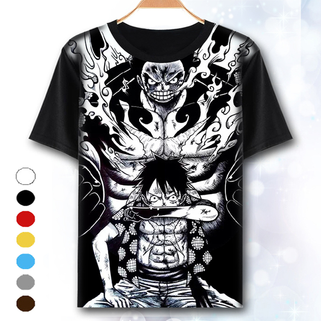 cf90f84c4034 [XHTWCY] One Piece T Shirt Luffy Straw Hat Japanese Anime T Shirts O-neck  Black T-shirt For Men Anime Design One Piece T-shirt