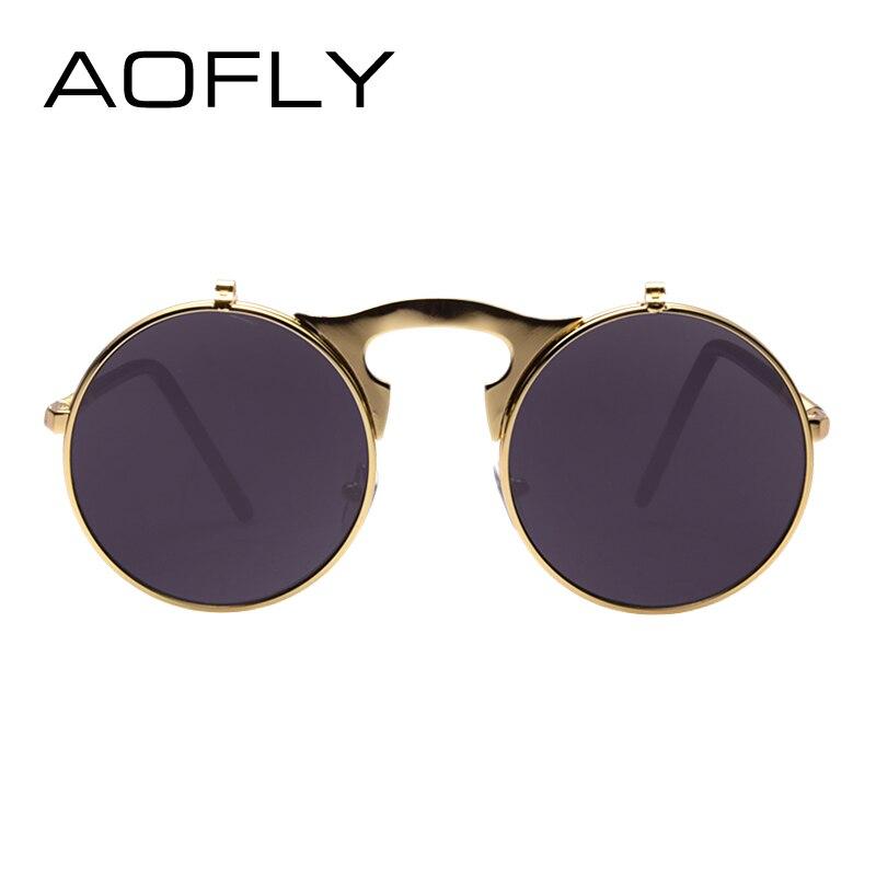 Vintage Steampunk Sunglasses Round Designer Steam Punk Metal Oculos De Sol Masculino Women Coating Men Retro Sun Glasses bO1P5LvX