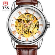 TSS 2016 estilo de los nuevos hombres reloj de múltiples funciones grande mecanismo del reloj reloj automático de los hombres reloj de pulsera mecánico automático