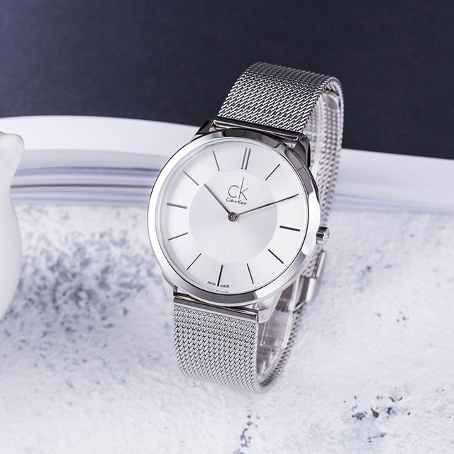 5a64409b6 CalvinKlein Watch Braided Fashion Quartz Watch Men s and Women s Watches  K3M21126