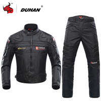 DUHAN Professional Men S Motorcycle Motocross Off Road Racing Jacket Body Armor Riding Pants Clothing Set