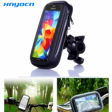 Top Quality Waterproof 55 Inch Universal Bicycle Bike Motorcycle Handlebar Phone Mount Holder Case For Samsung
