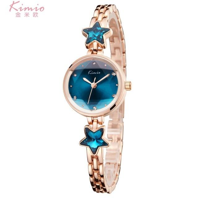 Ladies Time-limited New Watch 2018 Kimio Fashion Brand Bracelet Watches For Women Diamond Jewel Girl Stainless Steel Quartz saat