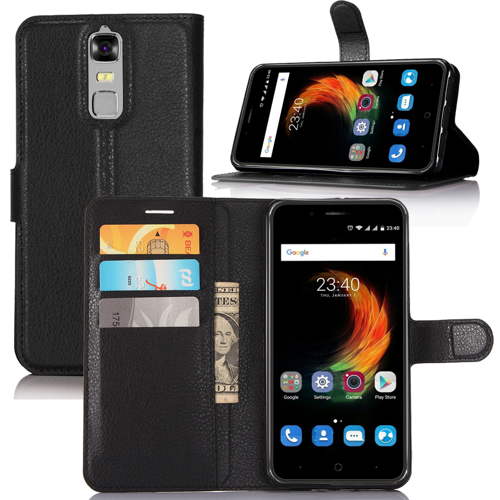 For Zte Blade A610 Plus Case Leather Flip Back Cover For 5