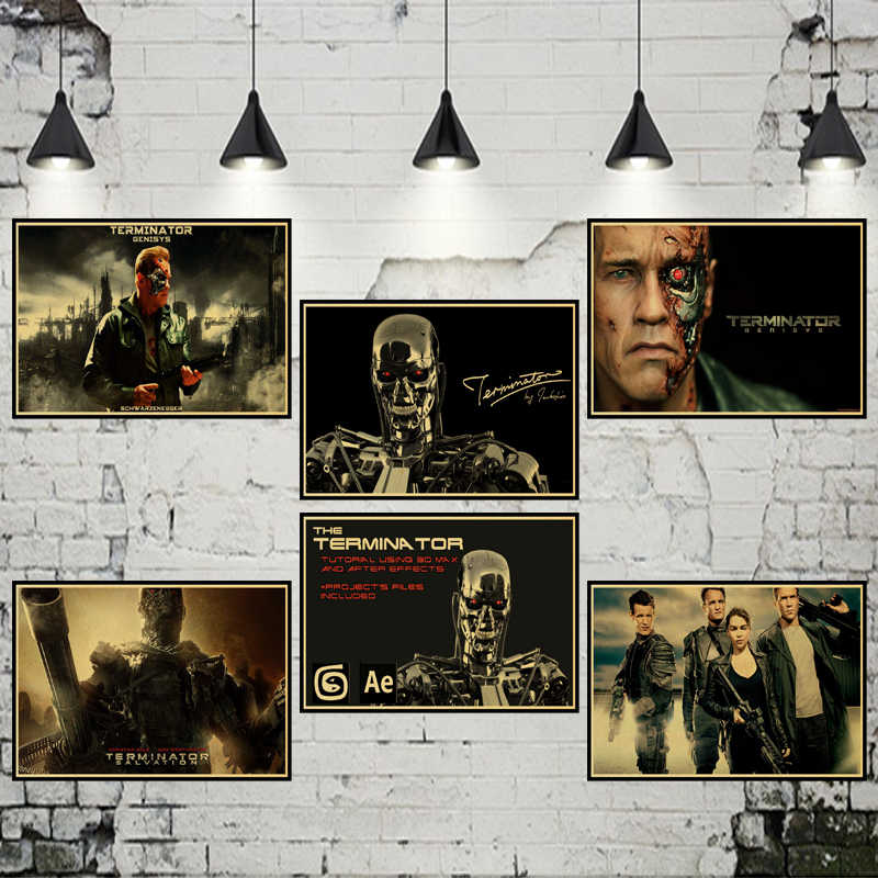 Detail Feedback Questions about The Terminator Posters White