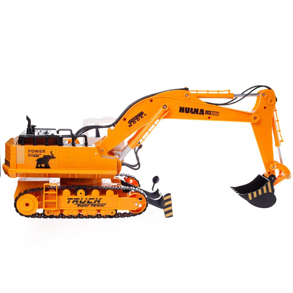 Digger Toy Us 56 54 35 Off 11ch Rc Excavator Toys 2 4g Remote Control Engineering Truck Digger Truck Model Electronic Excavator Heavy Machinery Toy In Rc