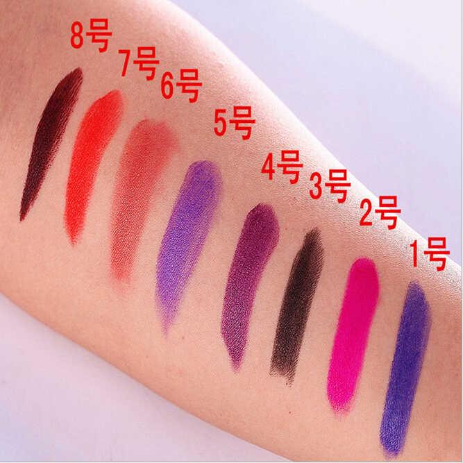 Ange Aile 8 צבעים/סט רעל בציר ליל כל הקדושים ערפד איפור שפתון בצבע כהה סגול עמיד למים מט שפתון לאורך זמן