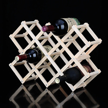Folding wood wine rack wine bottle holder Storage Organizer beer wisky Holder Display stand bar Accessories home decor
