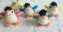 new on 4colors - popular 7CM penguin Plush Stuffed Toy Doll ; Gift keychain Pendant plush Toy Doll , Kid's Gift toys