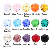 Wholesale Glass Round Murano Loose Beads 6 8MM Crystal Faceted Ball Spacer Beads Fittings For Jewelry