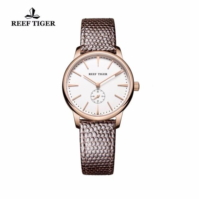 4fbf9b8b99b Recife Tigre RT Ouro Rosa Ultra Fino de Quartzo Relógios Para Homens em  Ouro Rosa