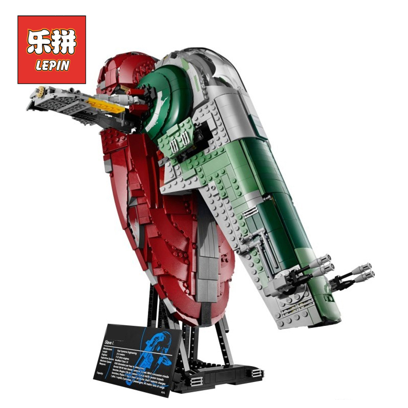LEPIN 05037 Star Wars Classic Series Slave UCS  I Slave NO.1 2067Pcs Model Building Block Bricks Toys LegoINGlys 75060 Boy Gifts lepin 05037 ucs slave toys no 1 model 2067pcs star wars building block bricks toys kits compatible legoing 75060 children hediye