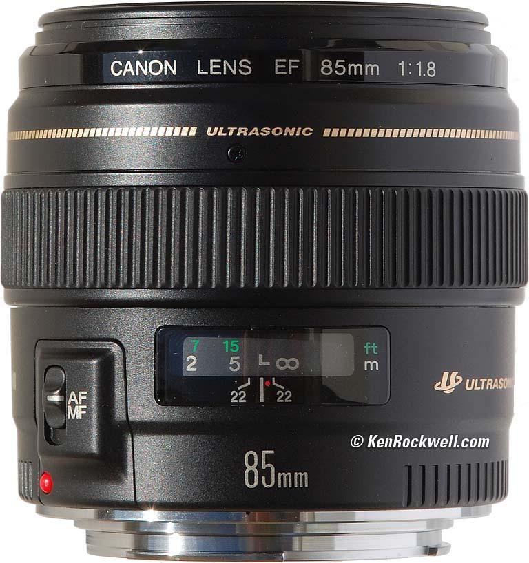Canon EF 85mm f/1.8 USM AutoFocus Telephoto Lens canon canon ef s 15 85mm f 3 5 5 6 is usm kit lens page 8