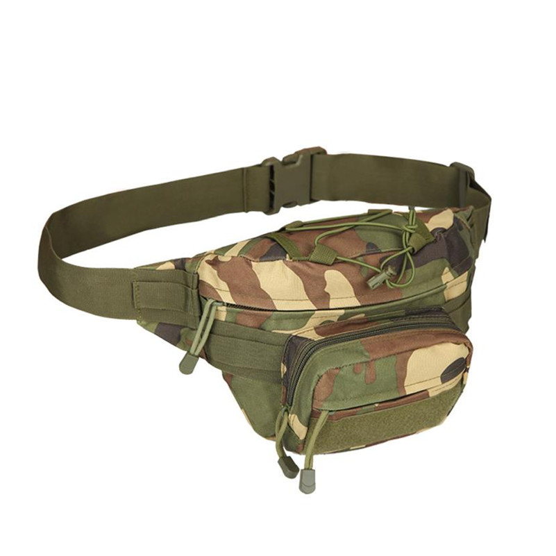 цена на Oxford Waist Packs Belt Bag Men Waist Fanny Pack Military Bag Pouch Small Pack Casual Travel Chest Packs Camouflage Waist Bags